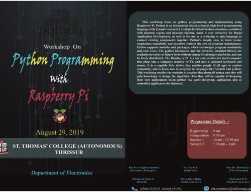 Workshop on Python Programming with Raspberry Pi