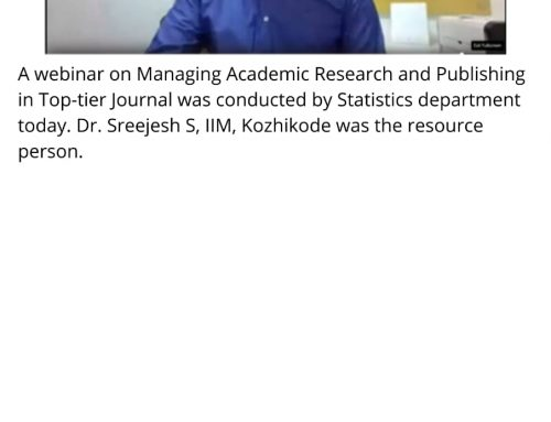 Webinar onManaging Academic Research and Publishing in Top-tier Journals
