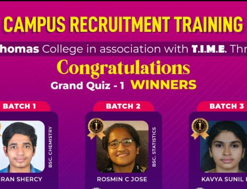 Campus Recruitment Training: Grand Quiz 1 Winners.